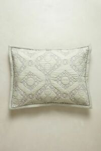 Anthropologie CAMBRIDGE Two Standard Shams NWT lilac lavender cotton bedding