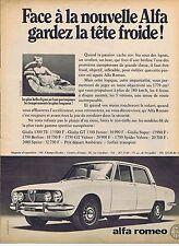 Publicité Advertising 016 1968 Alfa Roméo Giulia toute la gamme