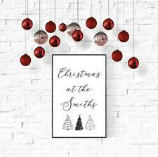 Christmas print, christmas at the family print, personalised christmas decor