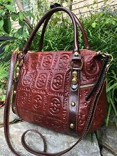 Marino Orlandi Brown Leather Satchel Handbag Purse  NWT