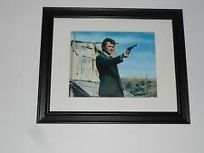 "Framed Dirty Harry Clint Eastwood Film Clip print in Glass Frame 14"" by 17"""