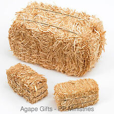 """FloraCraft Natural Straw Hay Bales  - TWO Per Pack - 2 1/2 x 2 1/2"""" x-5"""""""
