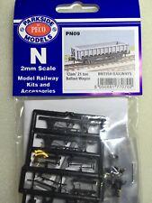 Peco Parkside PS54 NBR Wagon Buffers 4 Pack '0' Gauge White Metal Kit 1st