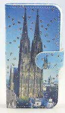iPhone 5/ 5S Case Flip Cover Etui Tasche Kölner Dom Strass