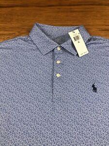 Polo Ralph Lauren Performance Polo Shirt Men's XL Blue Floral NWT