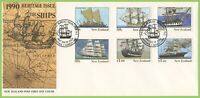 New Zealand 1990 Ships set on First Day Cover
