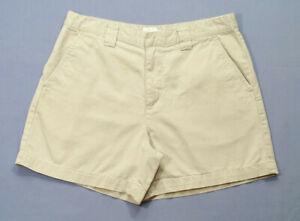 CK Calvin Klein Jeans Women Size 10 Casual Chino Shorts Beige High Rise Cotton