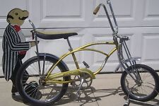 "AMX GOLD SWIFT HORNET SPRINGER 20"" BICYCLE-BANANA SEAT-SCHWINN STINGRAY LIKE !"