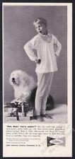 1959 Old English Sheepdog photo cute Gibbs Pajamas Xmas vintage print ad