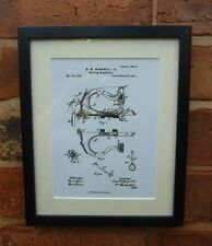USA Patent Drawing vintage SEWING MACHINE craft MOUNTED PRINT 1874 gift