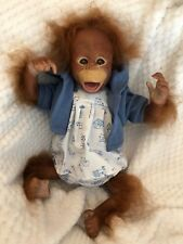 CHERISH DOLLS REBORN BABY BINKI GIRL BOY ORANGUTAN MONKEY LIKELIKE ROOTED HAIR