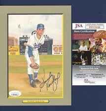 Sandy Koufax signed Brooklyn Dodgers 1987 Perez Steele Great Moments - Jsa