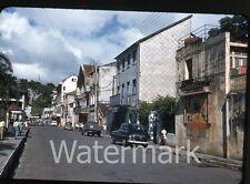 1957  kodachrome Photo slide Martinique street scene cars movie poster   CC11