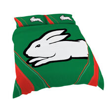 South Sydney Rabbitohs NRL QUEEN Bed Quilt Doona Duvet Cover Set *NEW 2020* GIFT