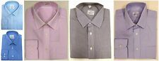 Ex M&S Men's Long Sleeve Formal Shirt Business Casual Smart Regular/Slim-fit