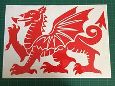 LARGE Car Bonnet Wales Welsh Dragon Vinyl Sticker Van Side Graphics Decal 41
