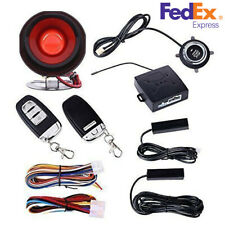 Car Passive Keyless Entry Push Button/Remote Engine Start Security Alarm System