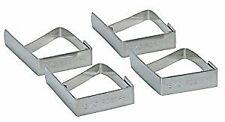 Stainless Steel Table Cloth Clips- card of four