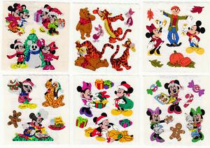 Vintage Sandylion Glitter Stickers Pooh Disney Mickey Mouse Cartoon - You Choose