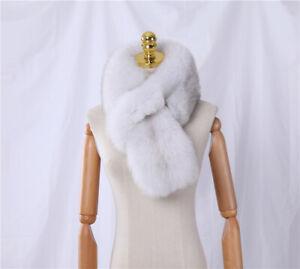 Full Pelt Fox Fur Scarf Women's Winter Natural Fur Scarves Neckerchief Wraps