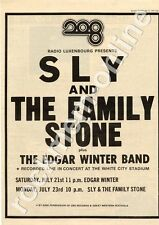 Sly & The Family Stone Edgar Winter Band MM3 show advert 1973