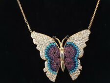 Linnet Jewellery Yellow Gold Vermeil 925 Sterling Silver Butterfly Necklace New