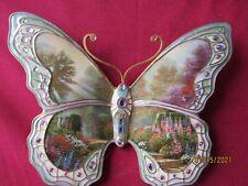 """Thomas Kinkade Bradford Exchange On Wings of Beauty Butterfly """"Garden of Grace"""""""