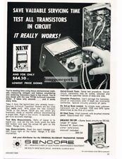 1968 Sencore TR15A Transistor Tester TV Radio Hi-Fi Test Equipment Vtg Print Ad