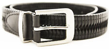 Tasso Elba Accessories Mens Bonded Leather Belt Black Twist  3354-12 Size 32 New