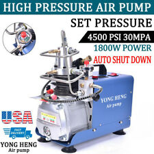 YONG HENG Auto Shut 30MPa Air Compressor Pump PCP Electric 4500PSI High Pressure