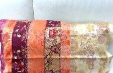 Bassetti SATIN Kissenhülle Ghirlandaio orange pink 40x80 Kissen zur Bettwäsche