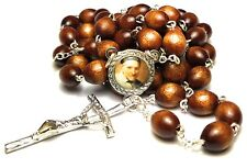 St Vincent De Paul brown relic rosary patron of hospitals; leprosy lost articles