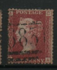 GB 1858-79 Penny Red SG43 Plate number 204 GA good used stamp