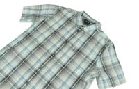"Jack Wolfskin Blue Check Short Sleeve Shirt Large 23"" Pit To Pit"