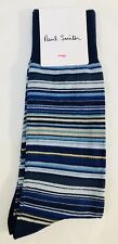 Paul Smith Men Sock Multi Stripe Made In England Blue
