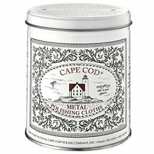 Cape Cod Metal Polishing Cloths Tin Canister 12 Cloths Gloves Buffing Cloth