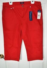 Chaps Womens 16P Capri NEW Nautical RED Modern Slimming Fit  Mid Rise