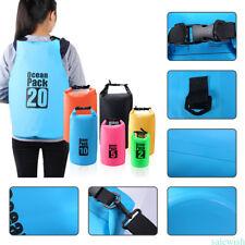 Outdoor Backpack Kayak Ocean Pack Waterproof Dry Bag Sack Multi Color 2L  Blue