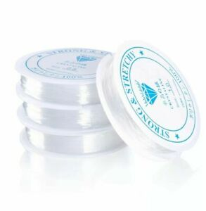 Clear Nylon Beading Elastic Stretch Wire Cord, Thread ,Jewellery Making