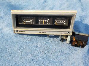 1965 1966 Dodge Polara temp alternator gas gauges