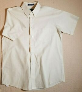 ClayBrooke Polo Mens Size 16 Short Sleeve Button Up Tan Polo Shirt Wrinkle Free
