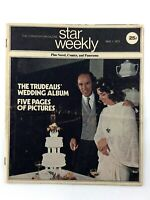 Star Weekly Magazine May 1 1971 Toronto Star Supplement Trudeau Wedding K786