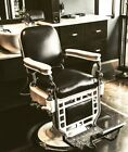 Set of six matching,fully refurbished Theo. A. Kochs Barber Chairs