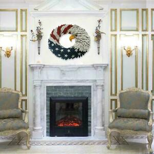 American Eagle Wreath - Patriotic Wreath For Front Door Decor Home - C2E2