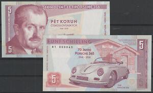 2019 Matej Gabris 5 Shilling Ferdinand Porsche 356 365 1948 70 Jahre SPECIMEN
