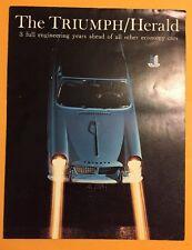 Vintage 1960-1961 Triumph Herald Sales Brochure US Excellent Collectable