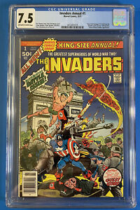 Invaders Annual #1 (1977) CGC 7.5 - Avengers, Roy Thomas, Alex Schomberg Cover!!