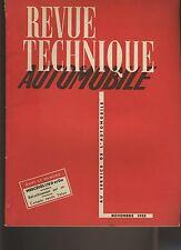 (C1)REVUE TECHNIQUE AUTOMOBILE MERCEDES 170D et Da / Transmission HYDRAMATIC etc