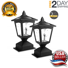 Solar Post Lights Outdoor Lamp Post Cap Lights Wood Fence Posts Pathway 2 Pack