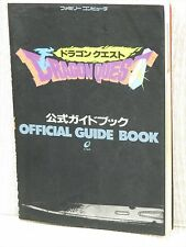 DRAGON QUEST Official Guide w/Map Book Famicom EX17*